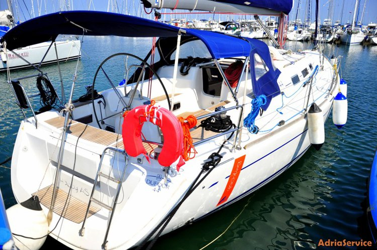 Discover Primorska  surroundings on this Dufour 44 Dufour Yachts boat