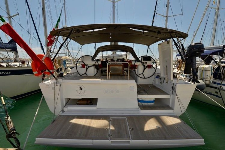 This 49.0' Dufour Yachts cand take up to 10 passengers around Tuscany