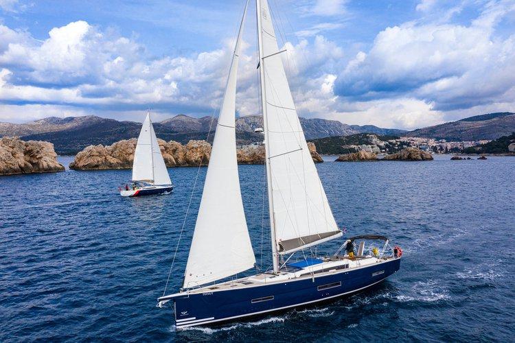 Experience Šibenik region, HR on board this amazing Dufour Yachts Dufour Exclusive 56