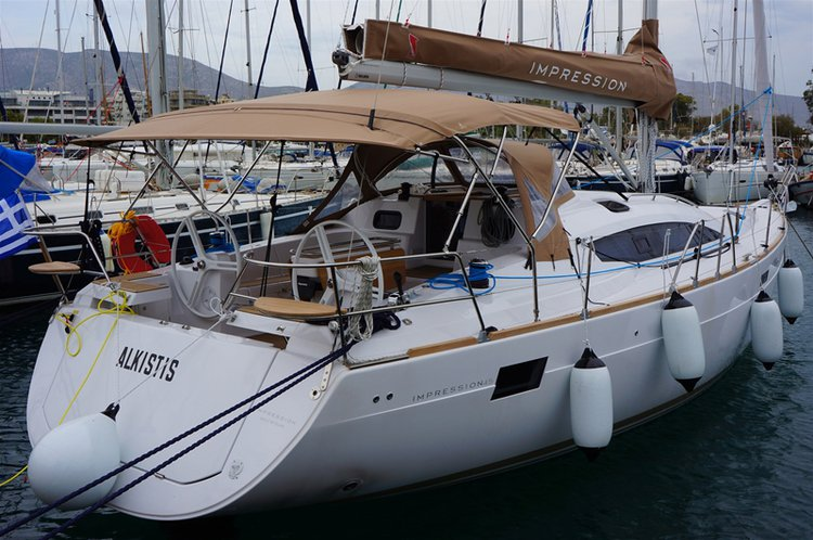 Sail the beautiful waters of Saronic Gulf on this cozy Elan Marine Elan Impression 45