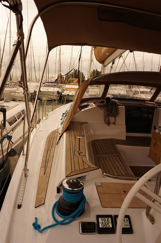 Sail Saronic Gulf, GR waters on a beautiful Elan Marine Elan Impression 50