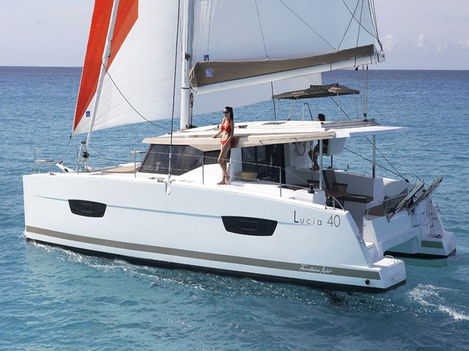 Sail Saronic Gulf, GR waters on a beautiful Fountaine Pajot Fountaine Pajot Lucia 40
