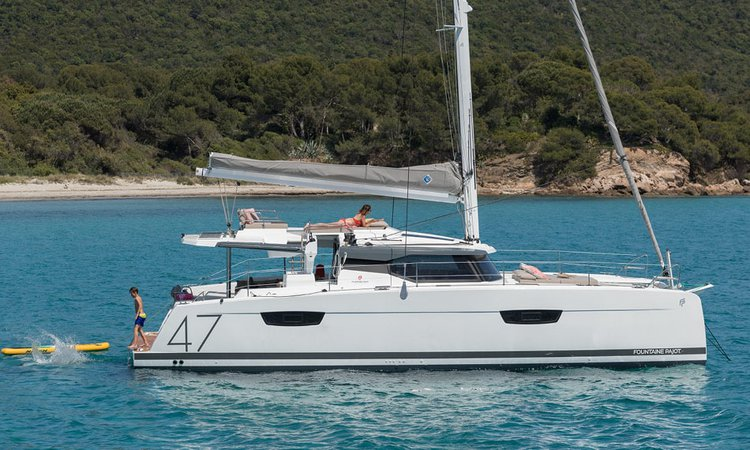 Catamaran boat rental in Athens, Marina Alimos (Kalamaki), Greece
