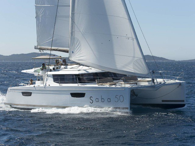 Get on the water and enjoy  in style on our Fountaine Pajot Saba 50