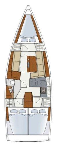 This 34.0' Hanse Yachts cand take up to 8 passengers around Zadar region