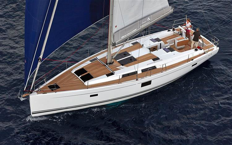 All you need to do is relax and have fun aboard the Hanse Yachts Hanse 455