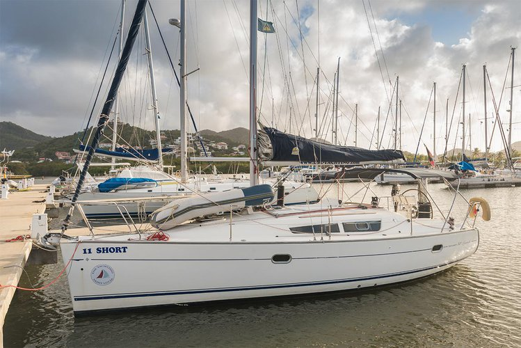 Experience St. Lucia on board this elegant sailboat