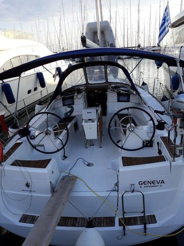 Sail the beautiful waters of Ionian Islands on this cozy Jeanneau Sun Odyssey 389