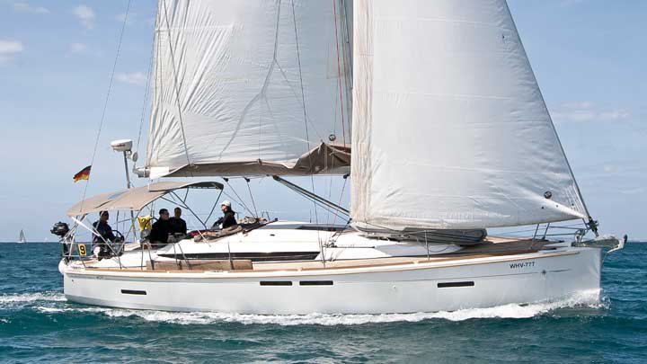 Hop aboard this amazing sailboat rental in Balearic Islands!