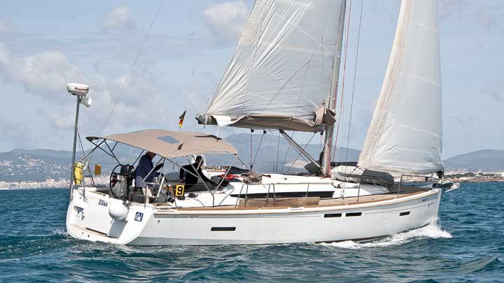 Discover Balearic Islands surroundings on this Sun Odyssey 409 Jeanneau boat