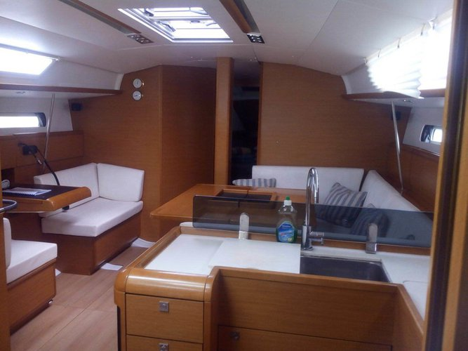 Discover Campania surroundings on this Sun Odyssey 439 Jeanneau boat