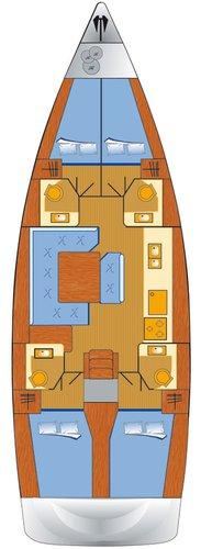 Discover Šibenik region surroundings on this Sun Odyssey 479 Jeanneau boat
