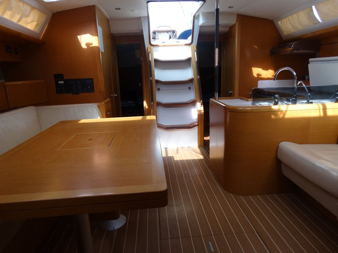 Discover Saronic Gulf surroundings on this Jeanneau 53 Jeanneau boat