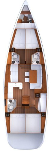 Up to 11 persons can enjoy a ride on this Jeanneau boat