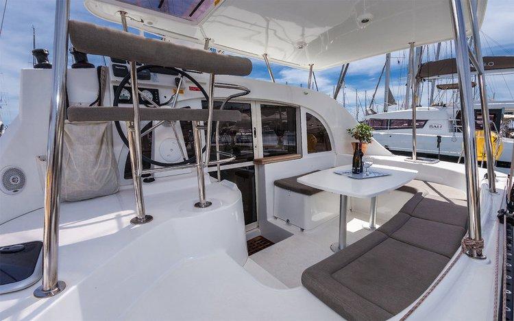 Catamaran boat rental in Corfu (Gouvia marina), Greece