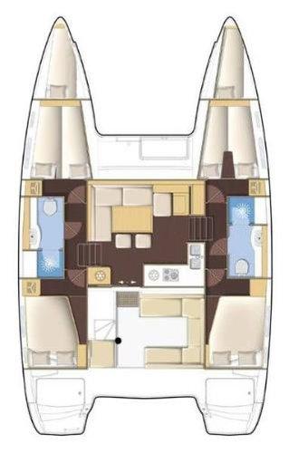 Boat for rent Lagoon-Bénéteau 39.0 feet in Marina Trogir - SCT, Croatia