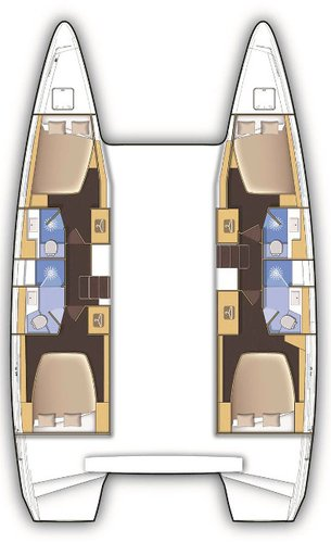 Lagoon-Beneteau boat for rent in Cyclades
