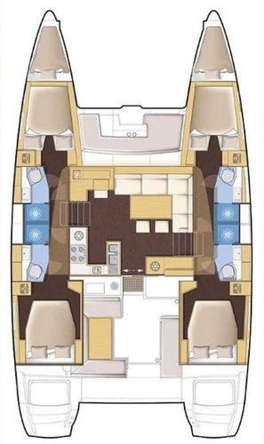 Boat for rent Lagoon-Bénéteau 45.0 feet in Marina Trogir - SCT, Croatia
