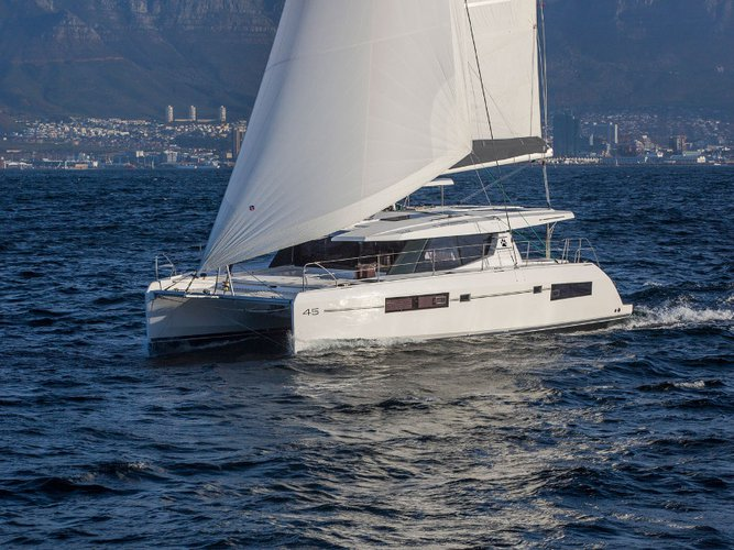 Enjoy luxury and comfort on this Leopard Catamarans Leopard 45 in Mahe, Victoria