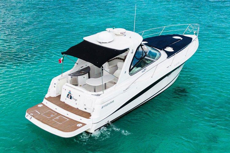 Experience Puerto Aventuras on board this elegant motor yacht