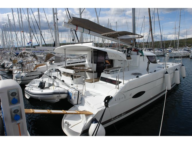 Sail the beautiful waters of Punat, Krk on this cozy Fountaine Pajot Lipari 41