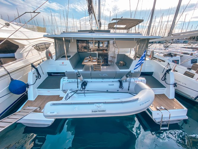 All you need to do is relax and have fun aboard the Fountaine Pajot Lucia 40 ( INVENTER - SOLAR PANELS )