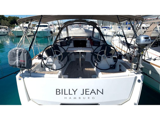Sail the beautiful waters of  on this cozy Jeanneau Sun Odyssey 389 JP