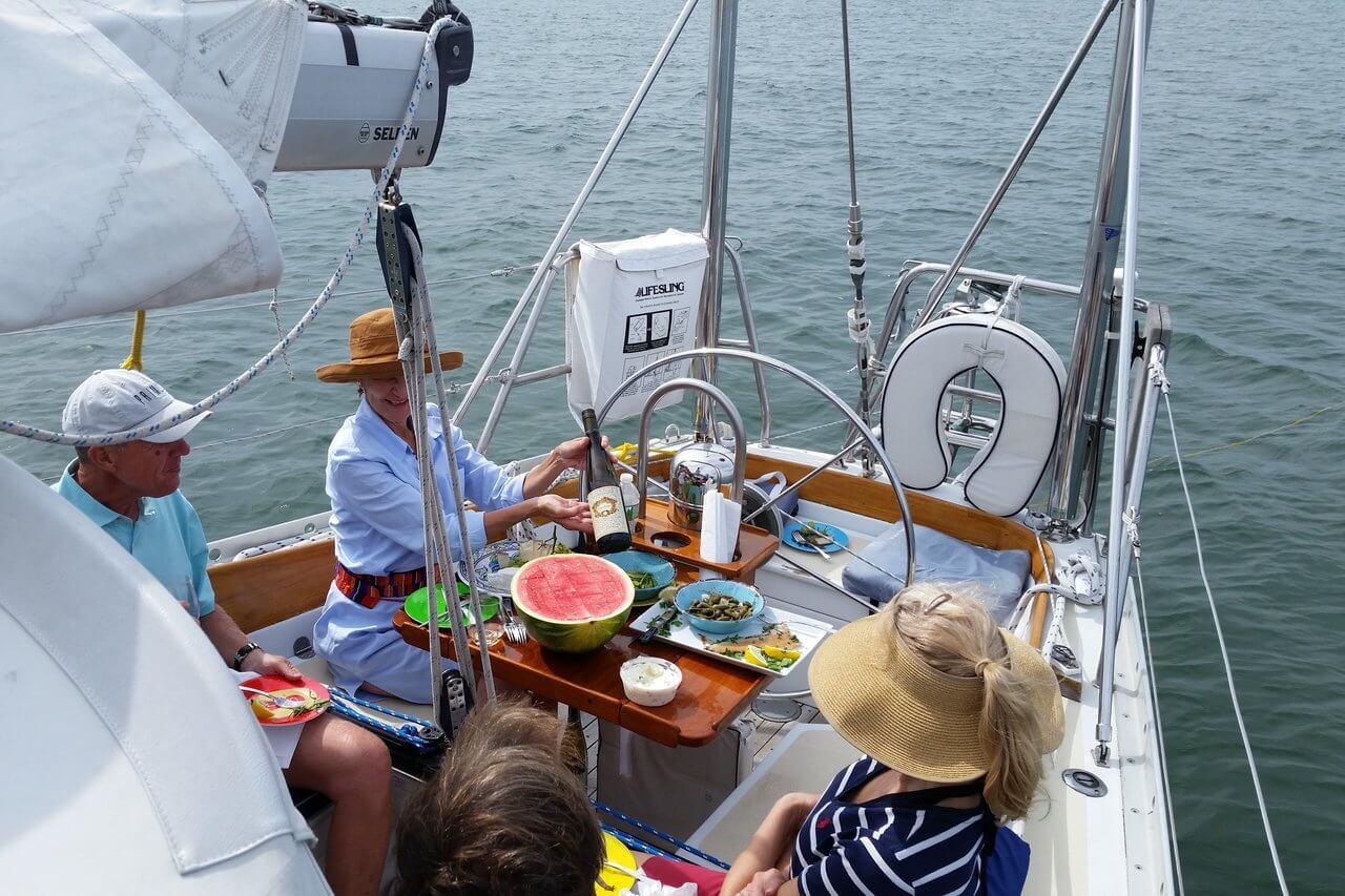 rental-Sail-boat-sunset-cruise-nyc-hamptons-charter-food